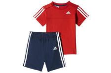 Adidas Niño Bebé / 3 rayas shorts & Top conjunto verano edades 0-24m 0-3 meses