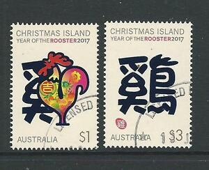 AUSTRALIA 2017 CHRISTMAS ISLAND YEAR OF THE ROOSTER FINE USED
