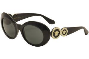 Versace Women's VE4329 VE/4329 GB1/87 Black/Gold Fashion Sunglasses 53mm
