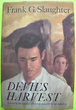 Frank G. Slaughter DEVIL'S HARVEST Doubleday 1963 Hardcover Dust Jacket VG BCE