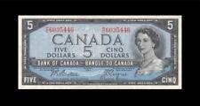 "New listing 1954 Bank Of Canada Qeii $5 *Beattie & Coyne* ""P/C"" ( Ef )"