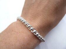 New Sterling Silver.925 Ladies Rollerball Bracelet 13 grams