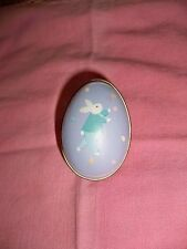Hallmark Merry Miniature Easter Boy Egg Tin Container 1988 Blue