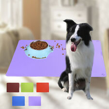 durable pet dog cat feeder mat waterproof pet food bowl mat silicone feeding mat
