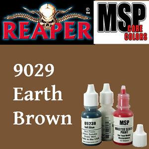 EARTH BROWN 9029 - MSP core 15ml 1/2oz paint pot peinture REAPER MINIATURE