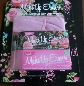 The Original Make Up Eraser 2 PACK Bloom & Original Pink + Headband New but Open