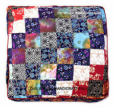 Patchwork Indian Square Floor Pillow Day Dog Cat Bed Large Mandala Ottoman Cover