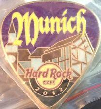 Hard Rock Cafe MUNICH 2012 POSTCARD Series Guitar Pick PIN Post Card HRC #68343