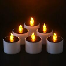 Solar Candle Power LED Candles Flameless Electronic Cylindrical Tea Lights New*