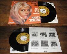 NANCY SINATRA - God Knows I Love You French PS 7' Jazz Pop 69'