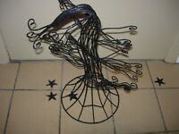 """TALL SPARKLING METAL WITCH'S TREE--18"""" HIGH --BENDABLE BRANCHES-#R15"""