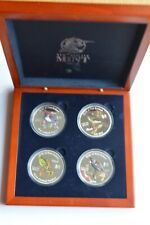 2005 Cook Island Silver Proof Birds of New Zealand 4 x $2 Coins