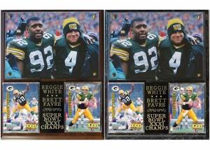 Brett Favre MVP Reggie White NFL Photo Card Plaque Super Bowl XXXI Champions
