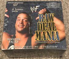 WWE Raw Deal Mania CCG Base Set Booster Box SEALED TCG WWF 36 Packs