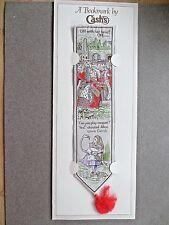Cash's Woven BOOKMARK Alice in Wonderland Lewis Carroll Queen of Hearts Croquet