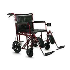 Medline Freedom Plus Bariatric Heavy Duty Transport Chair Wheelchair, 400 lbs