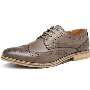 Men Wedding Leather Shoes Brogue Wing Tip Carved Business British Party Casual L