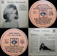 BARBRA STREISAND 1965 MONO UNIQ CVR! UNIQ PS! UNIQ TRCKLST! CHILEAN PRESS ONLY!!