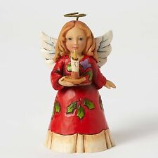 Jim Shore New 2016 Mini Holly Angel With Candle Figurine 4053825