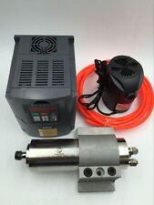 800W CNC Spindle Motor Water Cooled 110V +1.5KW VFD Inverter+Bracket+Pump Pipe