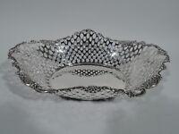 Tiffany Basket - 15517 - Antique Edwardian Bowl - American Sterling Silver