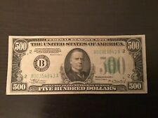 Rare!!!.... 1934A $500 Hundred Dollar Bill ....100% real, New York district!