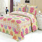 Bedspread/Coverlet Set New Double/Queen/King Bed Patchwork Quilted Cotton FLORAL