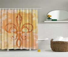 fleur-de-lis Graphic Shower Curtain French Lily Heraldry Royal Bath Curtain