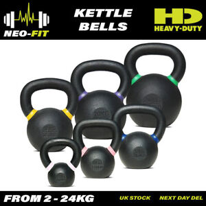 Neo-Fit Heavy Duty Cast Iron Kettle Bells Kettlebells Weights, 2kg-24kg