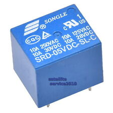 Relè Songle 1-Scambio 5V 10A 250VAC SRD-05VDC-SL-C 5-Pin Mini Relay Module