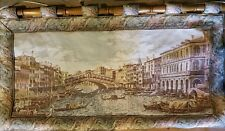Venice Grand Canal with Rialto Bridge Scenery Woven Tapestry Wall Hanging GER