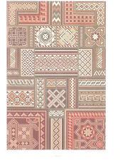 MOYEN AGE ART DECO RACINET LITHOGRAPHIE Art Decoratif Marqueteries Mosaique 1870