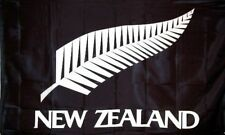 NEW ZEALAND ALL BLACKS SILVER FERN FLAG 150x90cm 3X5ft AOTEAROA RUGBY CRICKET