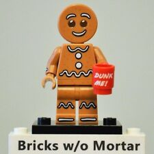 New Genuine LEGO Gingerbread Man Minifig with Coffee Mug Series 11 71002