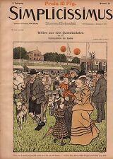1897 Simplicissimus October 2-women smoking;Reznicek; Art Nouveau-Extremely Rare