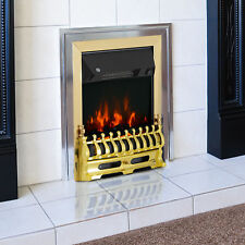 Modern Electric Fireplace 1 & 2KW LED Complete Fire Place Heater Surround Pebble