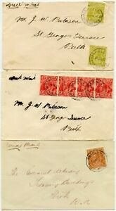 AUSTRALIA MARBLE BAR 1931-32 AIRMAILS  KG5th DIFFERENT FRANKINGS..PERTH