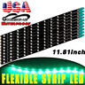 Green 10 X  5050 Waterproof 30CM LED Car Motor Truck Flexible Strip Light 12V US