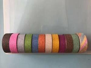 glitter washi tape 15mm - 10 metres on a roll - self adhesive tape - craft