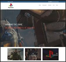 SONY PLAYSTATION Website|£112.34 A SALE|FREE Domain|FREE Hosting|FREE Traffic