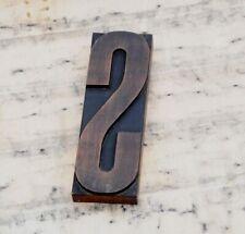 huge letter: S rare wood type letterpress printing block woodtype font antique