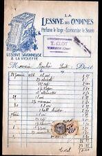 """VIERZON (18) COMBUSTIBLES """"T. CLOT"""" Publicité LESSIVE DES ONDINES à la VIOLETTE"""