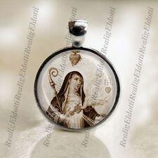 St. Gertrude Catholic Medal Pendant Christian Religious Jewelry
