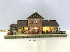 Faller B-105 H0 Bahnhof Talheim mit 3x Beleuchtung,Figuren,1:87,selten & RAR
