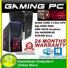 AMD QUAD Core RYZEN3 3.7GHz Gaming PC Computer 8GB ram 2Tb HDD VEGA Graphics FF