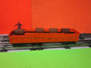 Lionel  3562-75  A.T. & S.F.Operating Orange Barrel Car O  GAUGE TRAINS