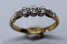VINTAGE 18CT & PLATINUM DIAMOND RING SIZE O 1/2