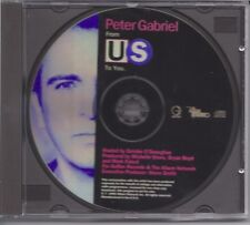 PETER GABRIEL / FROM US TO YOU - INTERVIEW+SECRET WORLD * PROMO CD *