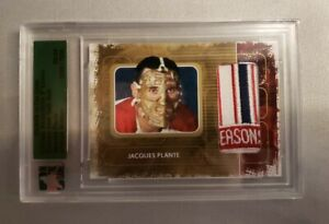 08-09 In The Game Ultimate Memorabilia Gold Jaques Plante Rare SSP Patch /7500