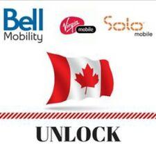 Canada Bell / Virgin / Solo - All iPhone - Semi Premium Factory Unlock Service